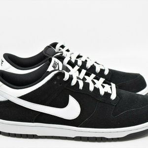 Nike Dunk Low Black White Sb Suede Shoes 904234-00